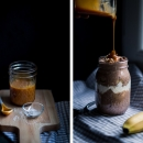 Banoffee Chocolate Overnight Oats with Salted Caramel