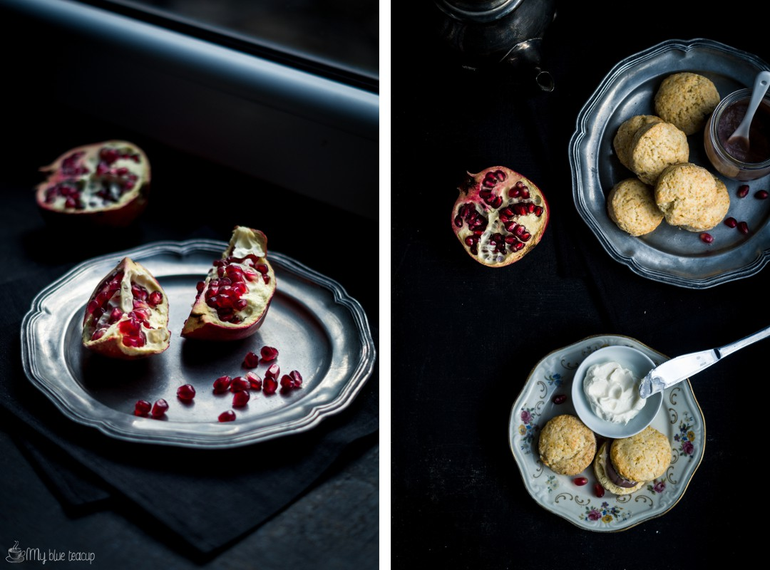 pomegranate + scones
