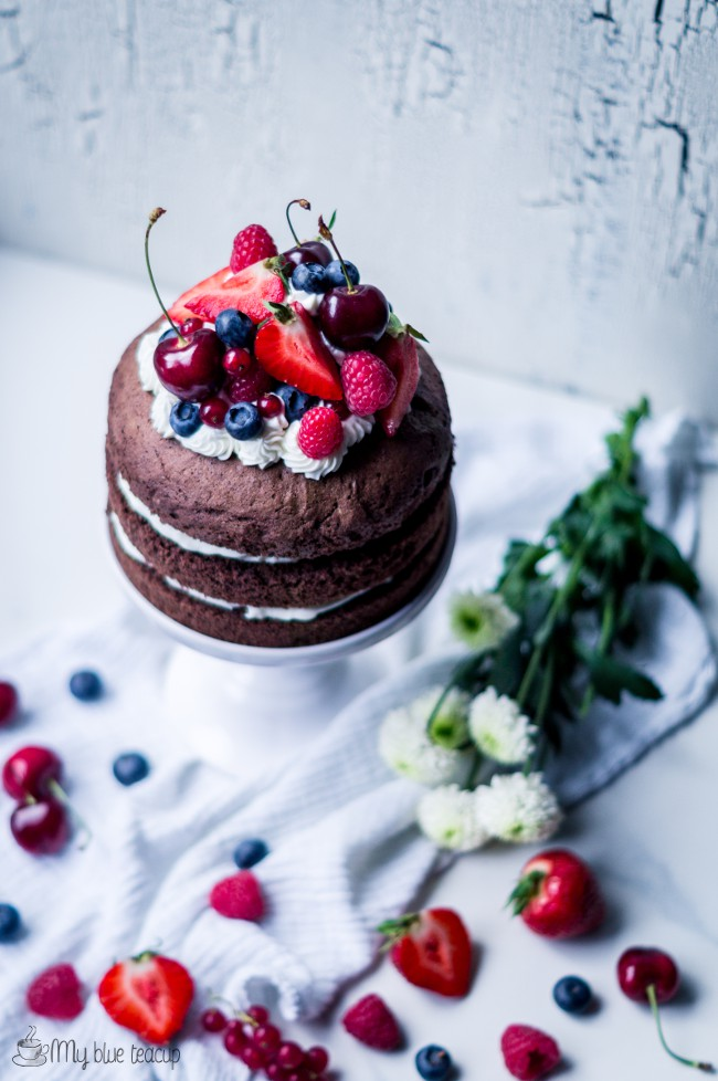 milk and chocolate layer cake
