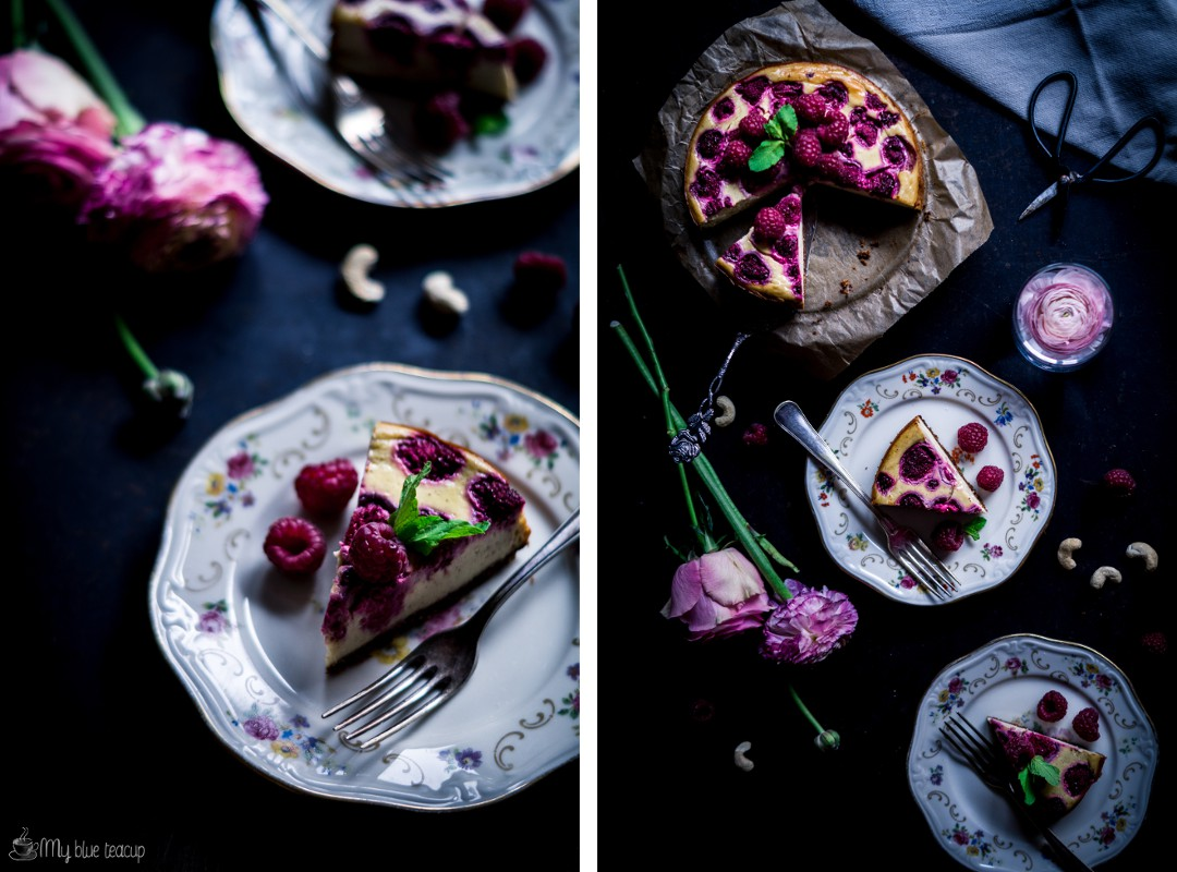 raspberry cashew cheesecake